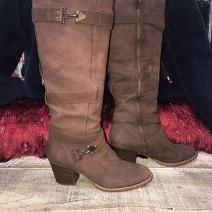 Shoes - Schuller knee High Brown Suede Boots